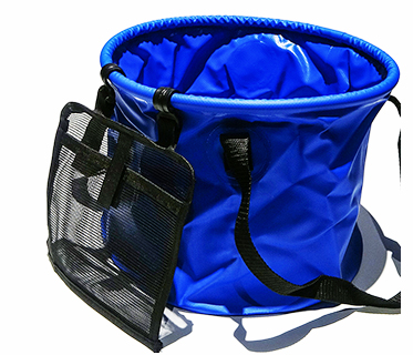 QJ-G-S-013 outdoor durable collapsible water bucket folding car wash bucket