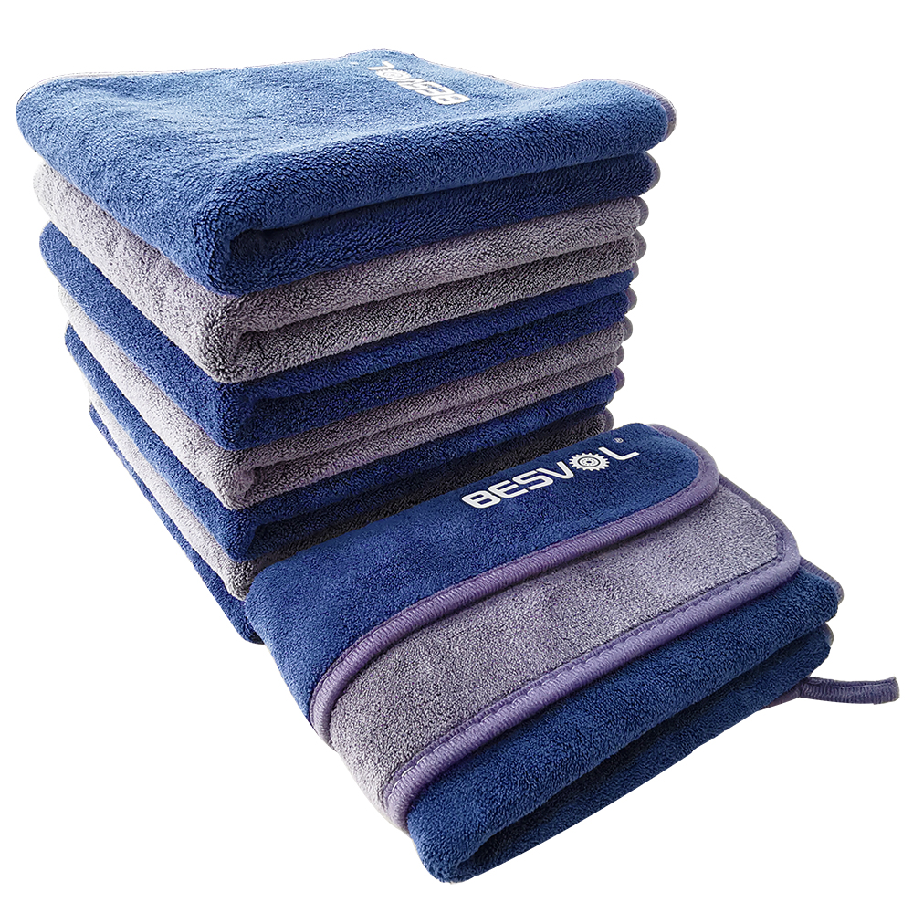 Custom design coral fleece car wash cleaning cloth car care quick drying detailing microfiber towel