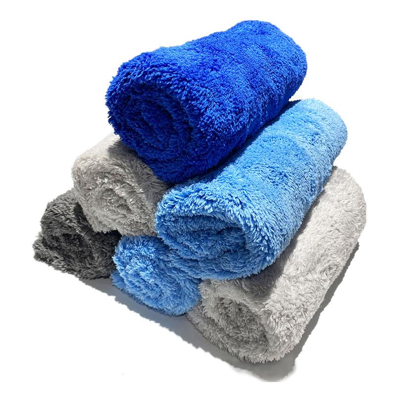 Coral Fleece Normal density Towel 500GSM Edgeless Plush Microfiber Car Wash Polishing Drying Towel