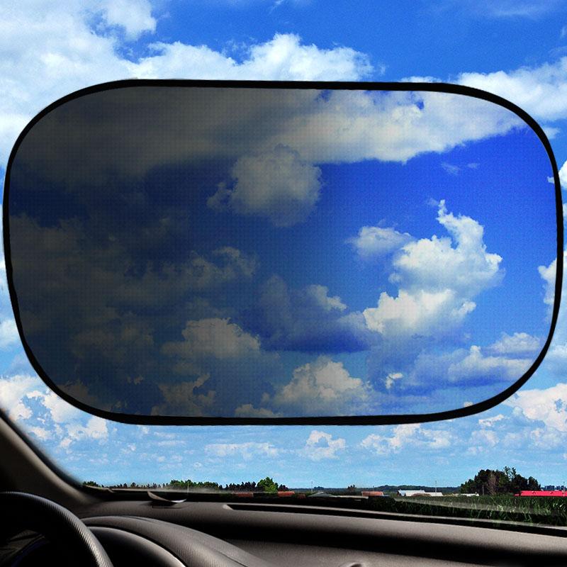 Customizable printing windscreen sun shade Foldable Static Cling Car Sunshade for kids side window