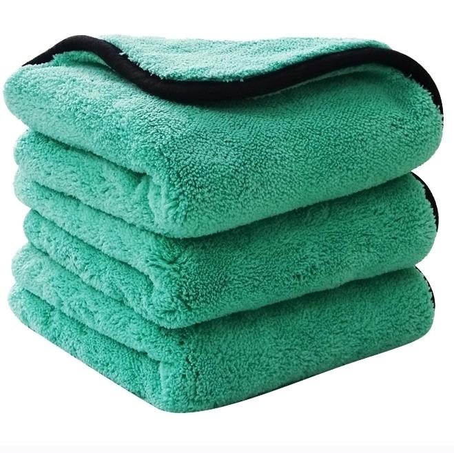 Premium Thick Plush Car Detailing Wash Cleaning Custom 1200 gsm Microfiber Car Drying Towel