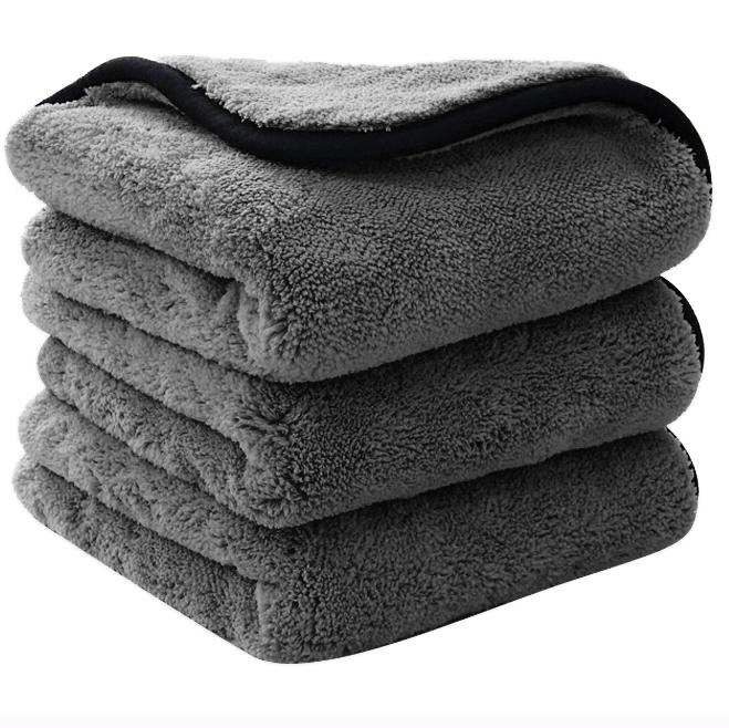 Premium 1200gsm Detailing drying towel Thick Plush microfiber Car Cleaning Wash Towel Cloth